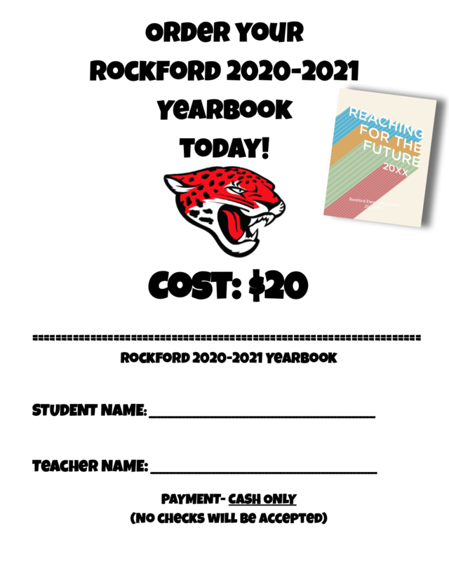 2020-2021 Rockford Yearbook Order Form