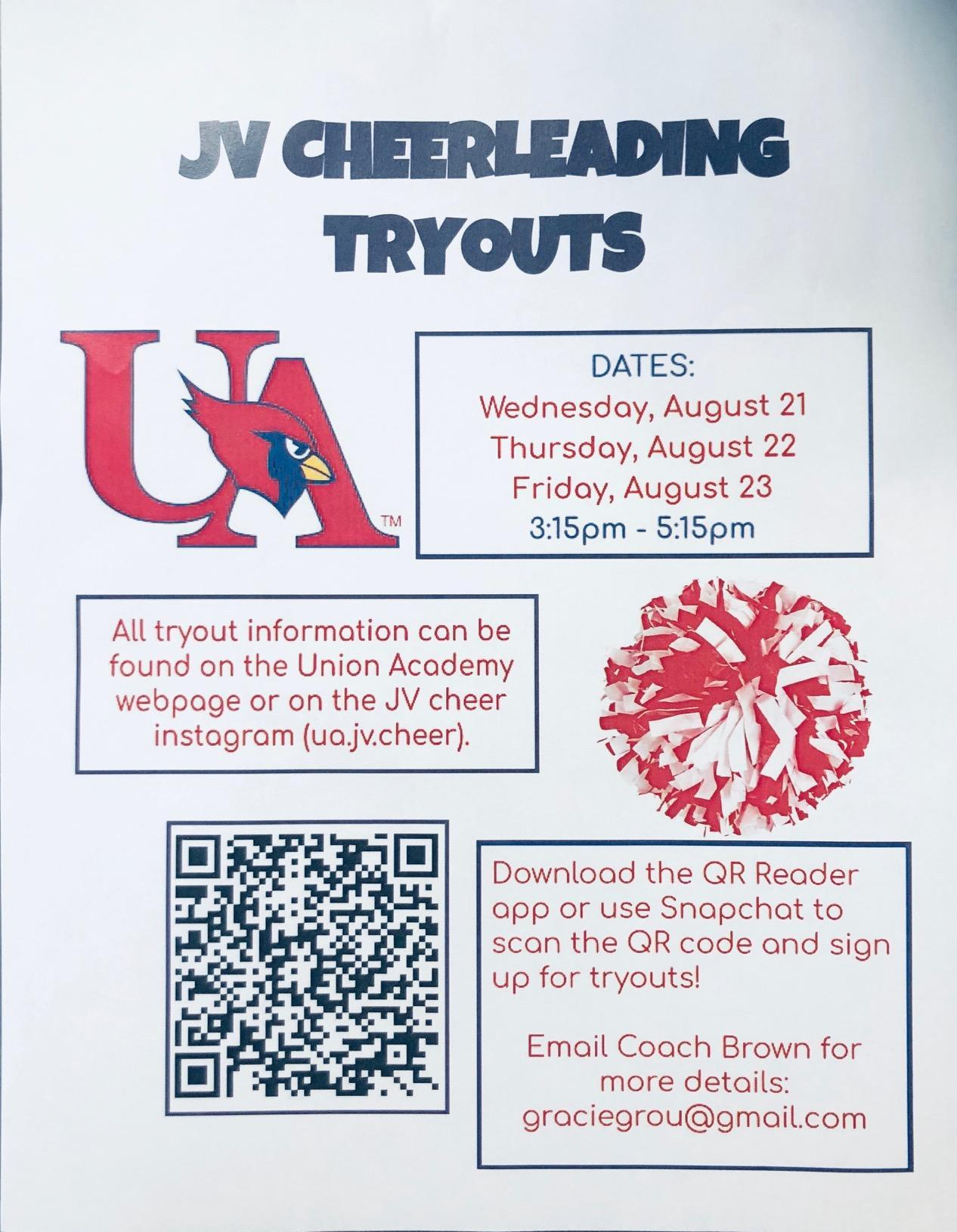 JV Cheer tryouts