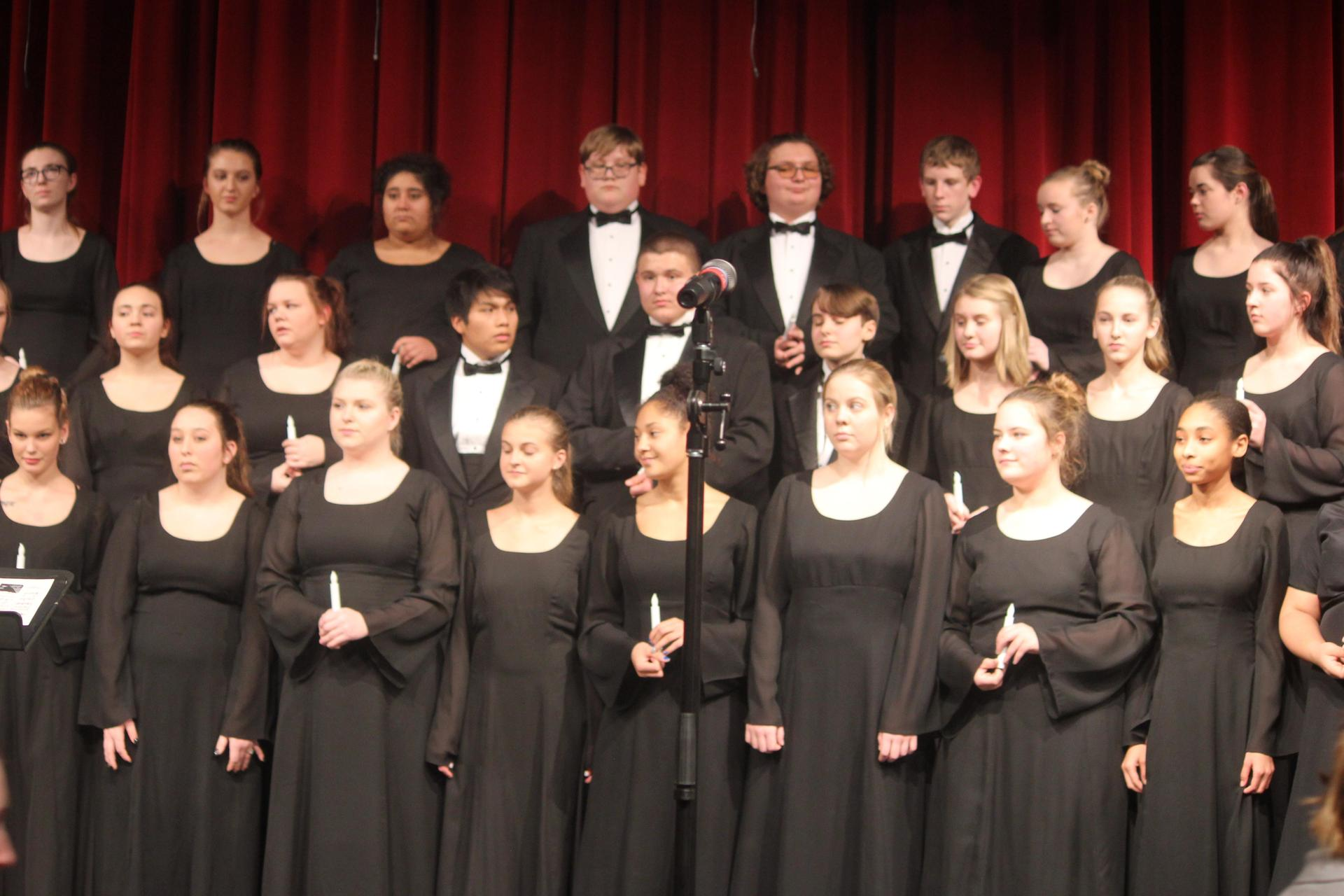 choir students in concert