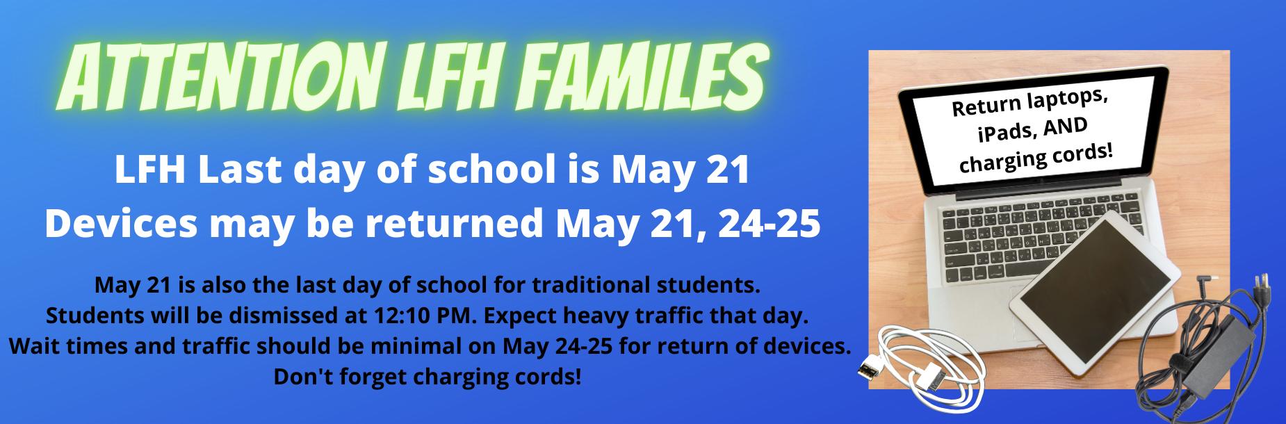 LFH device return May 24-25