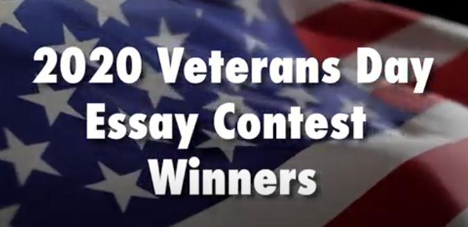 2020 Veterans Day Essay Winner Graphic