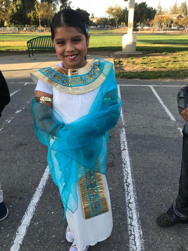 a student dressed as cleopatra