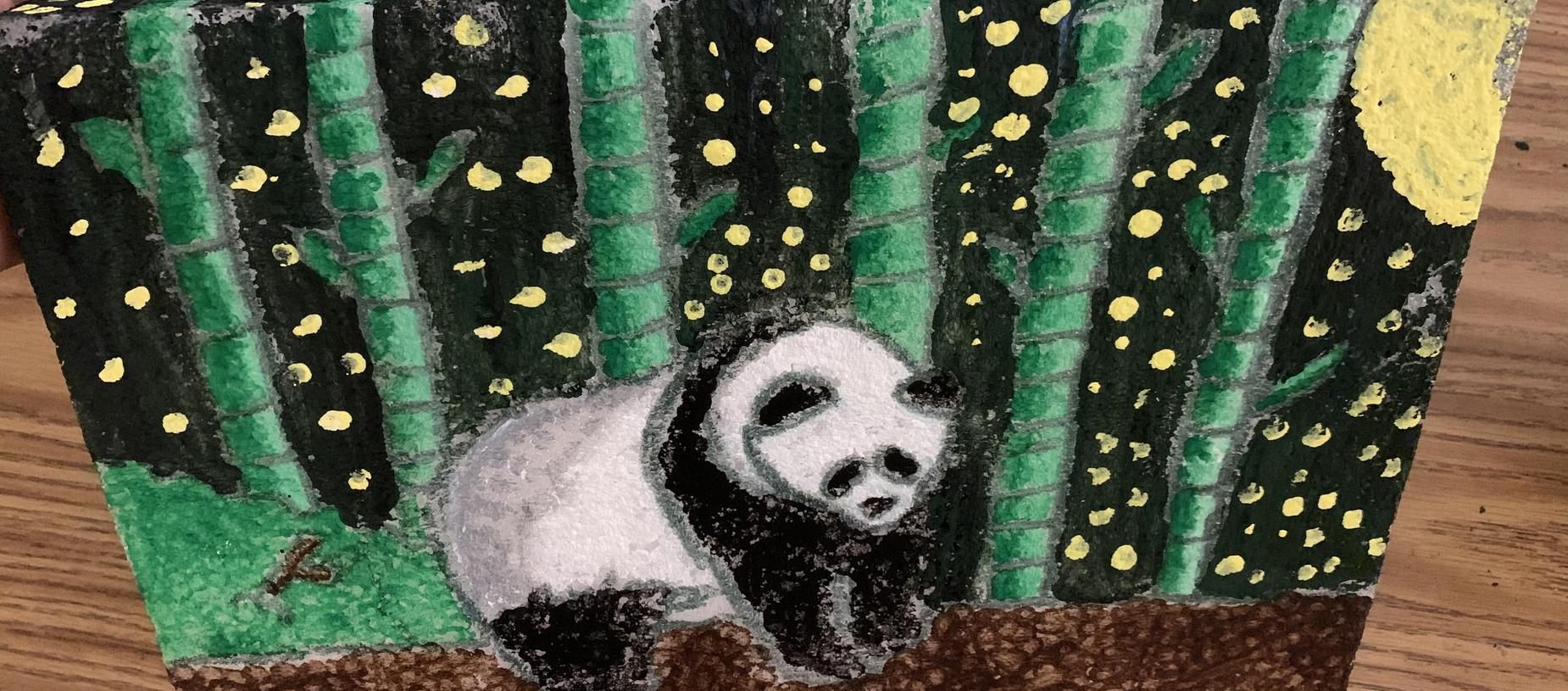Student Pointillism Art Project