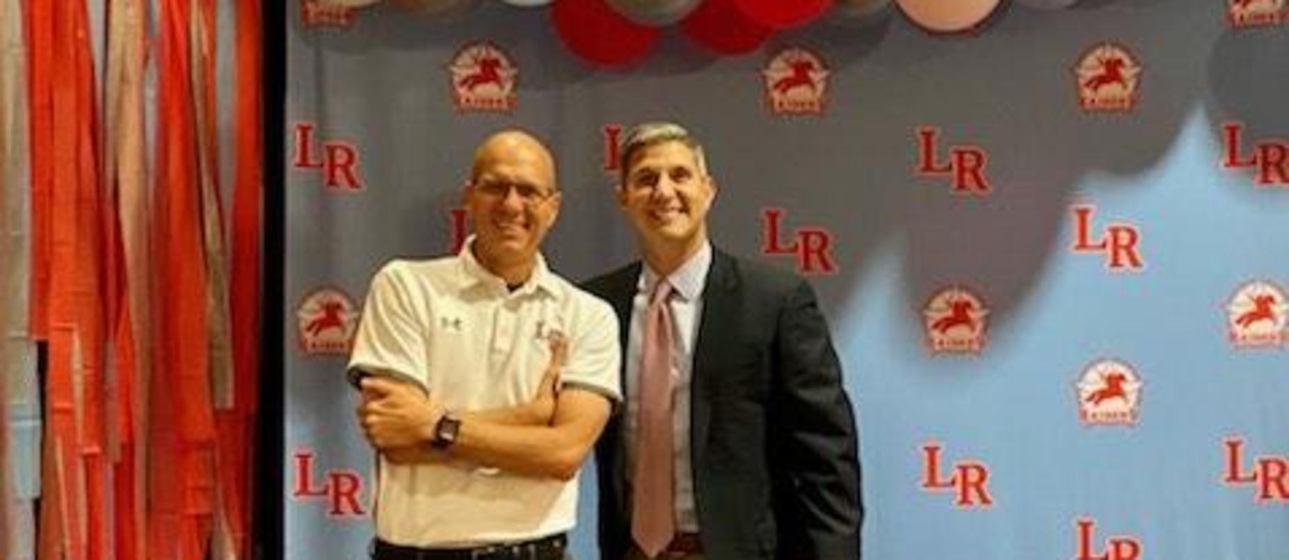 Dr. Tiption with LISD Convocation Guest Speaker Paul Vitale