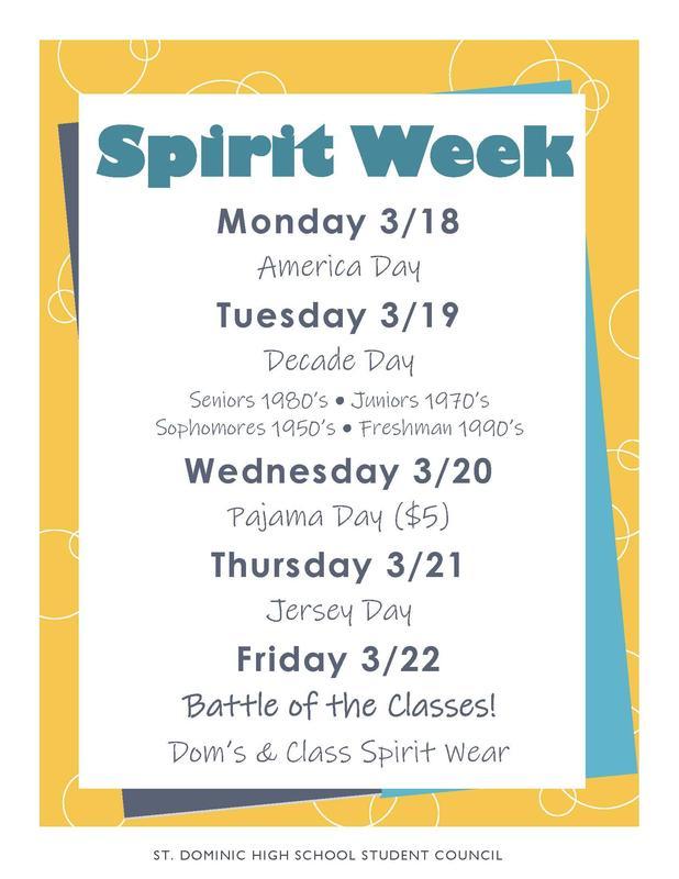 Spirit Week Information Featured Photo