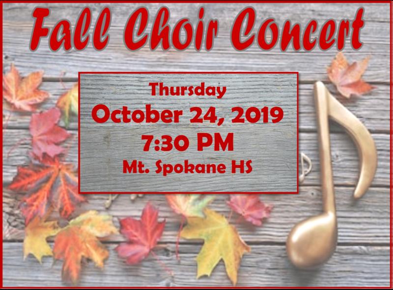 Choir Concert Fall