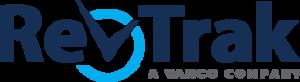 Blue logo that says Revtrak
