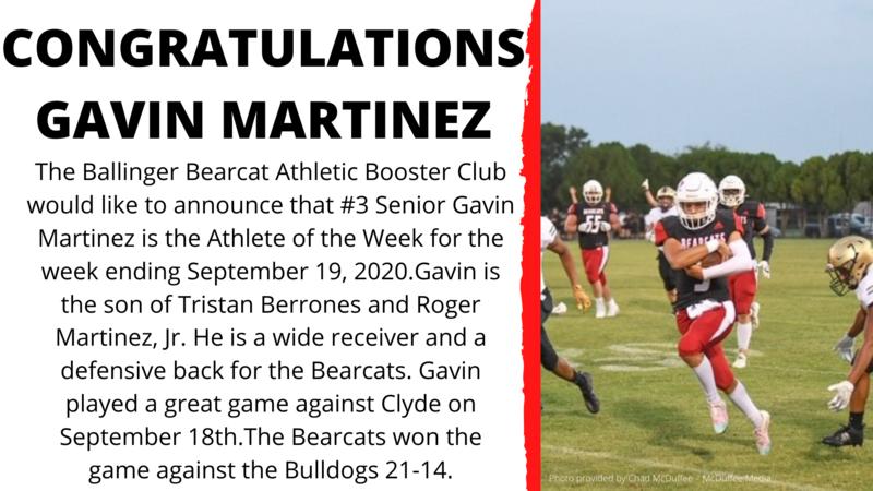 Athlete of the Week - Gavin Martinez