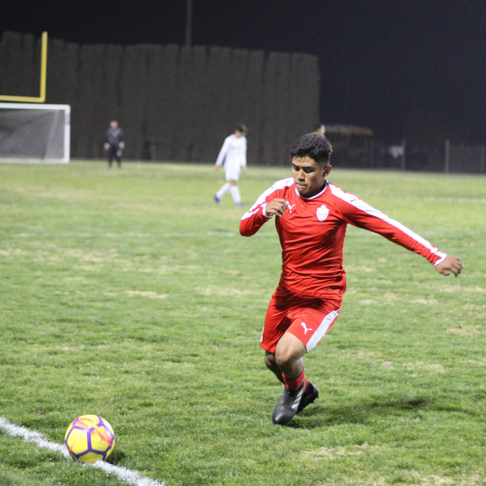 Alejandro Montes Running to the Ball