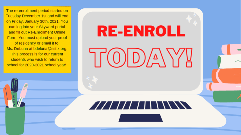 For Returning Students: Re-enrollment for 2021-2022 School Year is open! Featured Photo