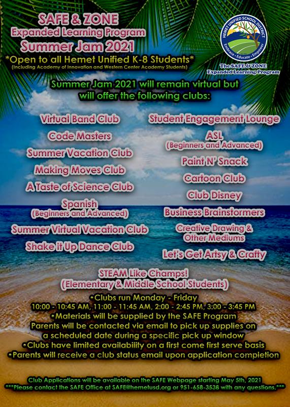 Summer Jam 2021 Flyer