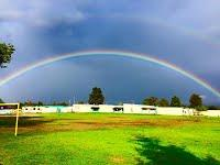 Double rainbow over Harloe Elementary School