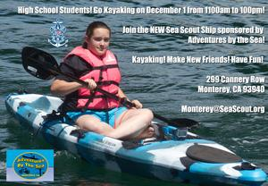 Go Kayaking on December 1st @ 11am to 1pm