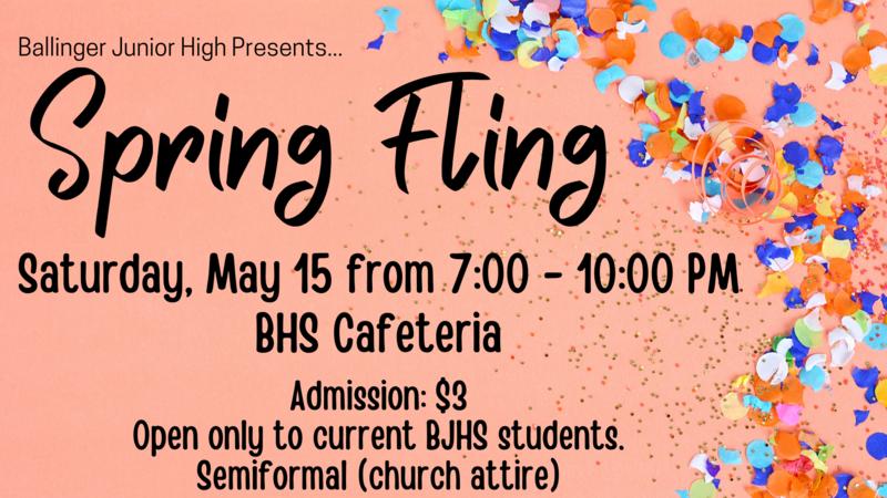 Ballinger Junior High Spring Fling