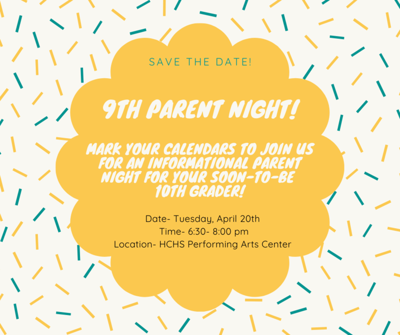 Rising 10th grade parent night