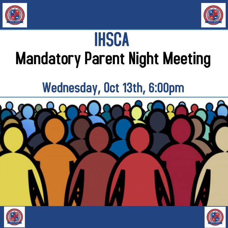 First Parent Meeting! Wednesday Oct 13th 6:00pm Featured Photo