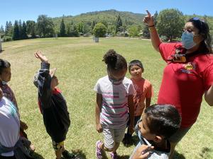 City of Ukiah Summer Safari Counselor Tomatillo working with Ukiah Unified students 2