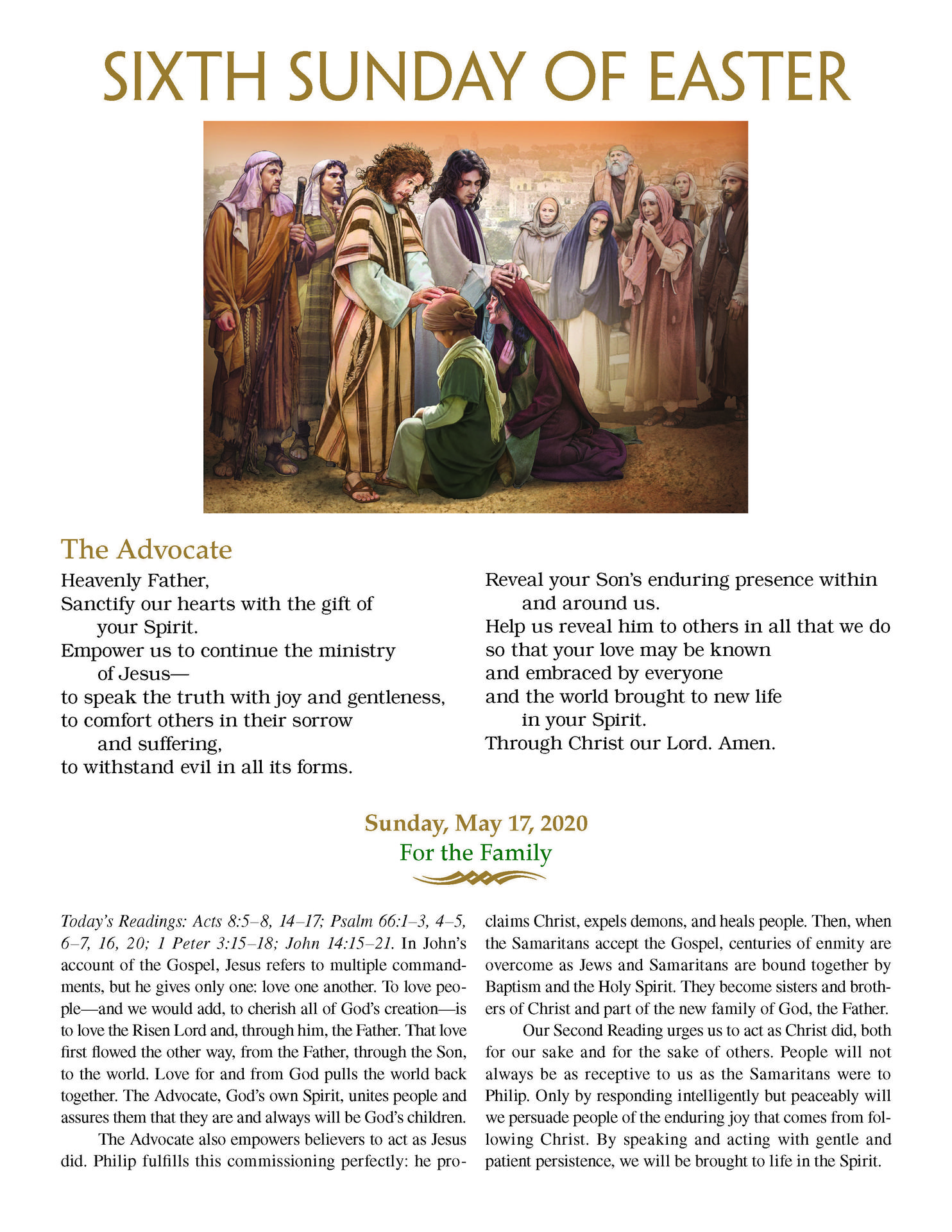 May 17-6th Sunday Easter