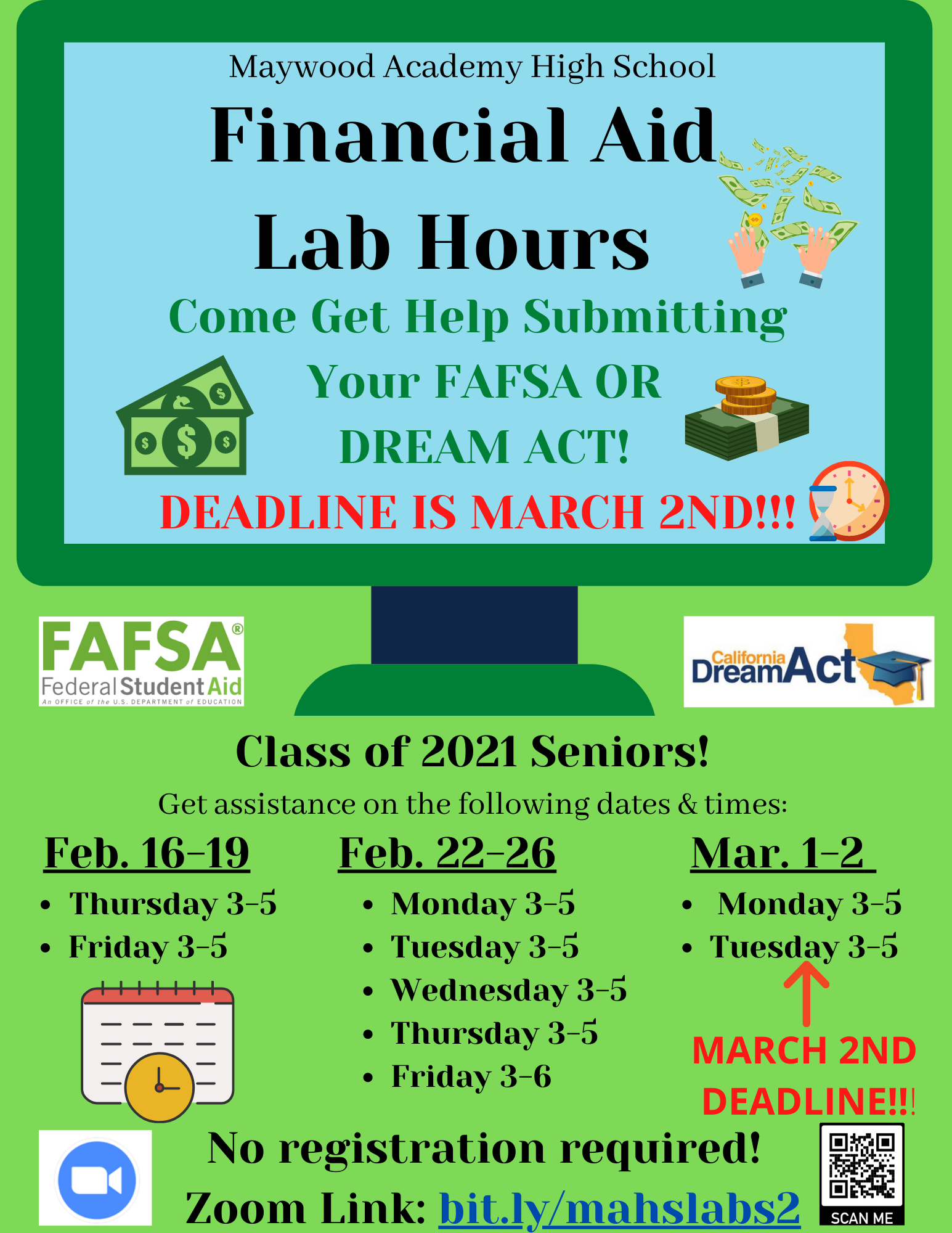 Financial Aid Labs Flyer