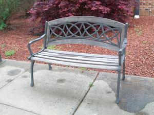 Outside bench.
