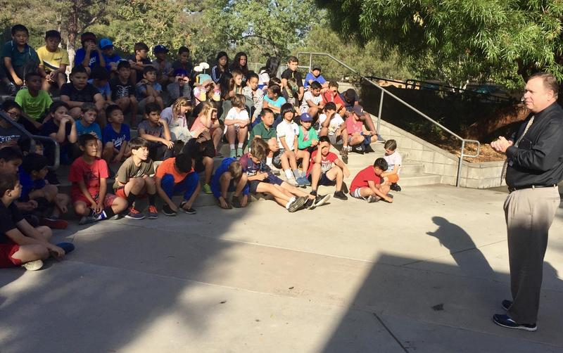 Geoff Yantz Talks with Monterey Hills Students