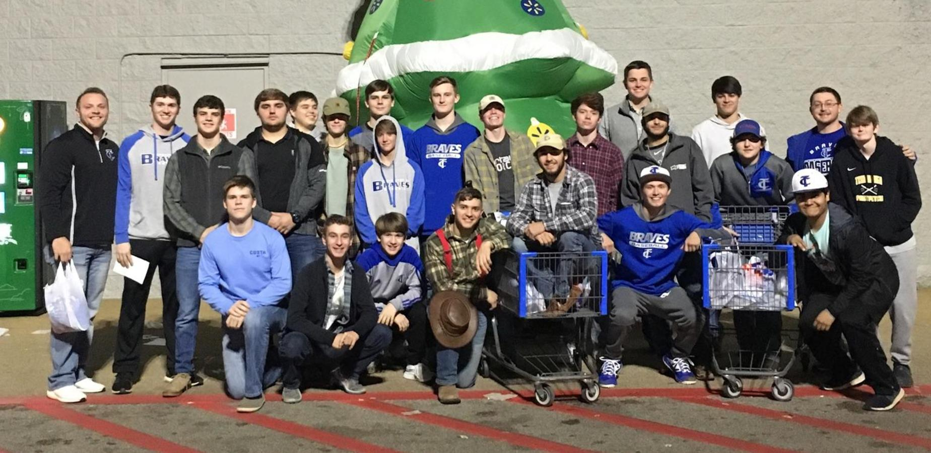 TCHS Baseball Team Shopping for Angel Tree Gifts