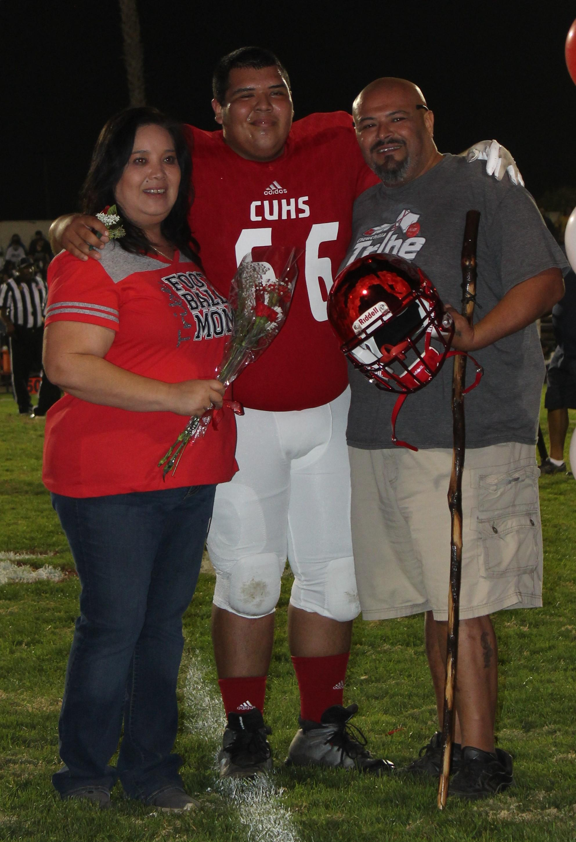 Daniel Vellejo and his supporters at Senior Night