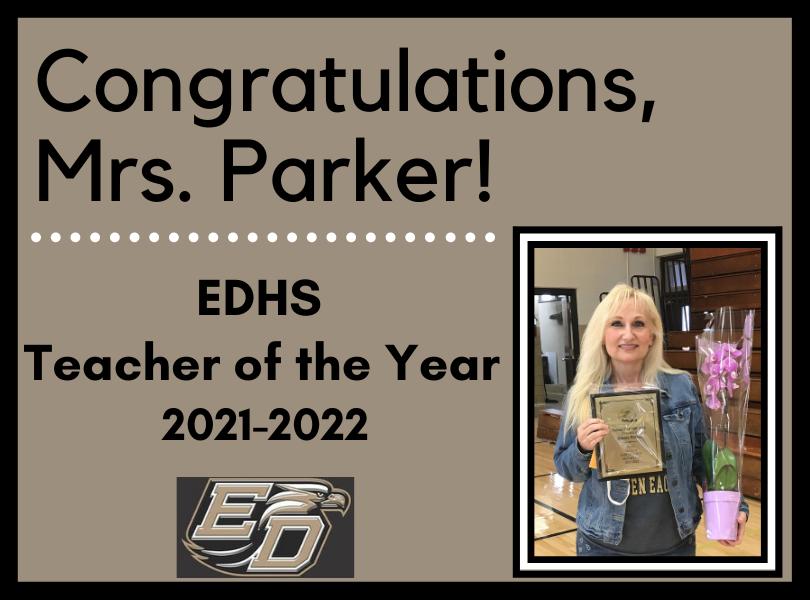 EDHS Teacher of the Year Bonnie Parker
