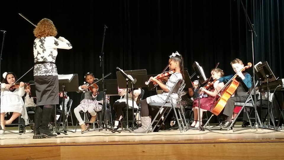 Our students performing during a Strings Concert.