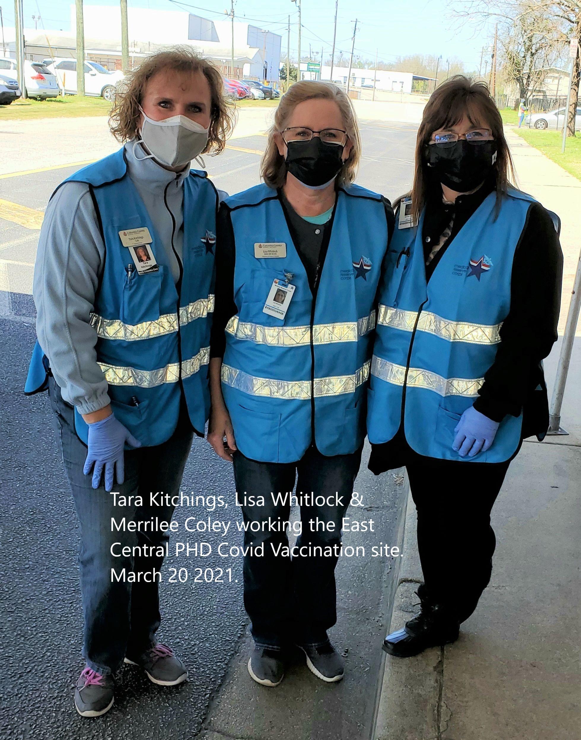 Nurses @ Vaccination Site
