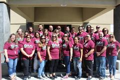 Staff in their new School Spirit shirts.