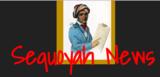Historical figure. Written words:  Sequoyah News.