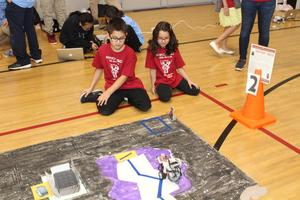 MISD Elementary students participating in the Robotics Expo.
