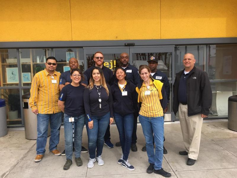 Staff members of IKEA in Carson donated $7,500 worth of school supplies to Frank D. Parent Elementary School.