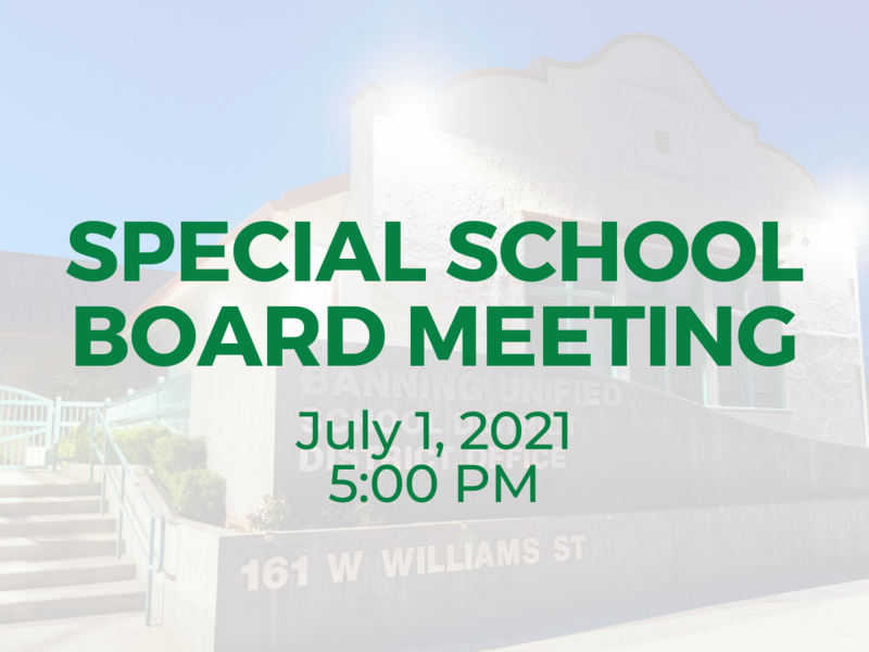 Special School Board Meeting — July 1, 20201 Featured Photo