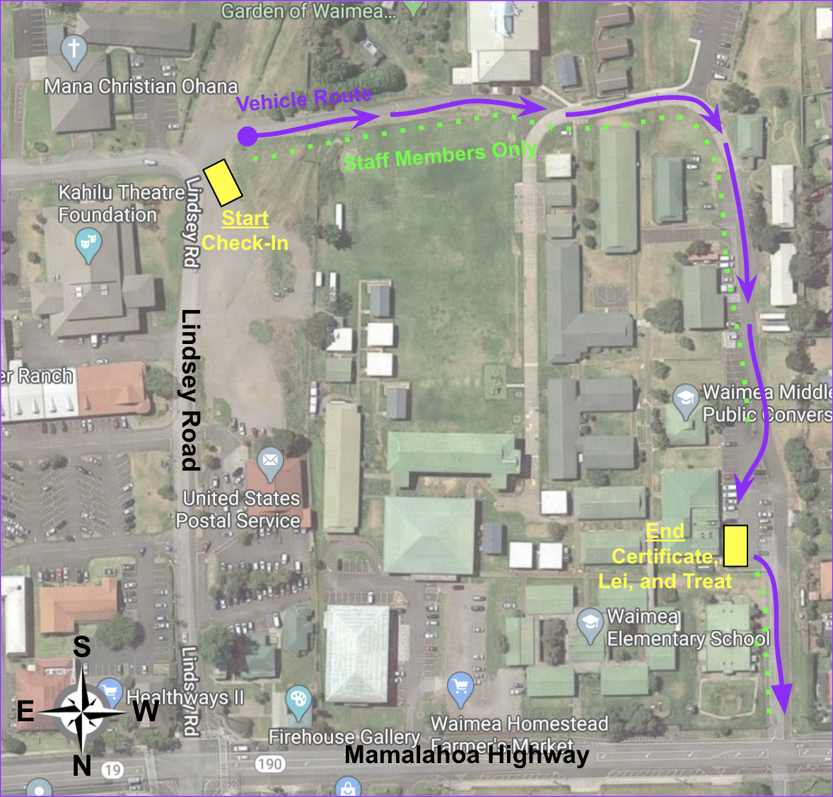 Exit Parade Route map
