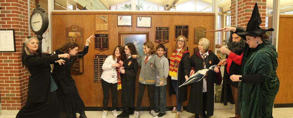 students dressed up as there favorite Harry Potter characters