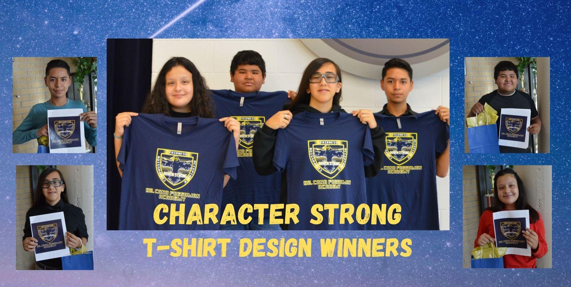 Character Strong T-Shirt Design Winners