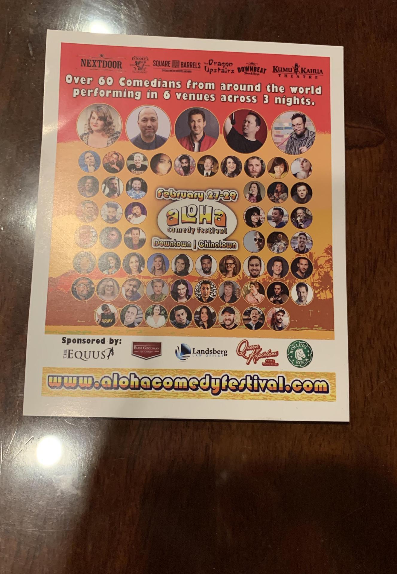 aloha comedy festival