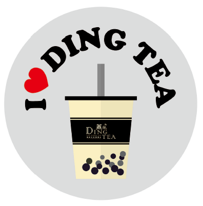 I love Ding Tea logo