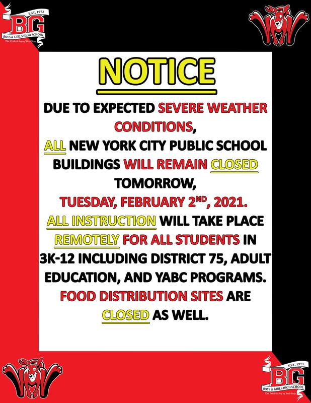 BGHS Notice