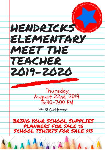 Hendricks Meet The Teacher Night