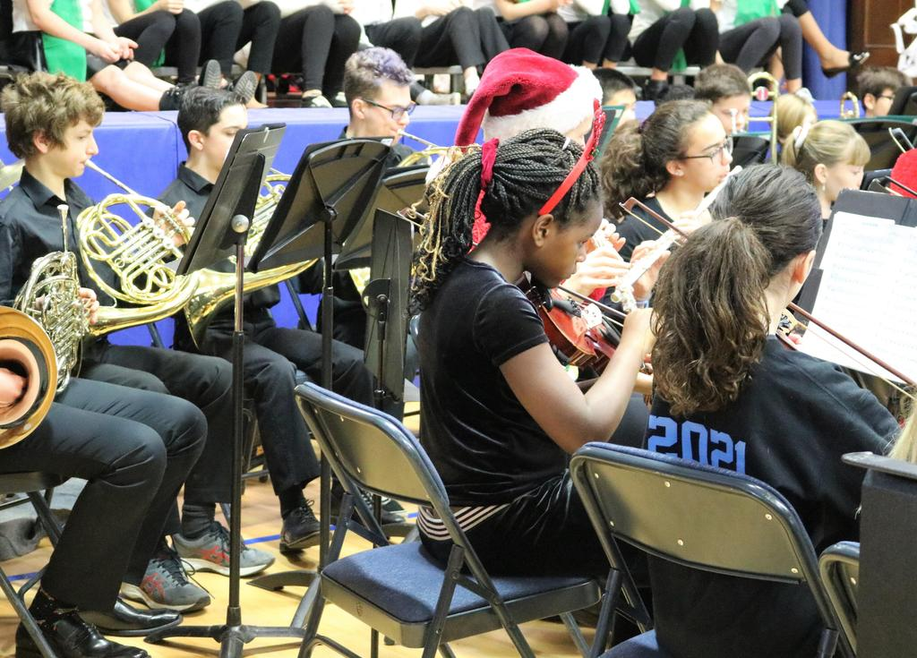 Photo of Edison student orchestra performing at McKinley.
