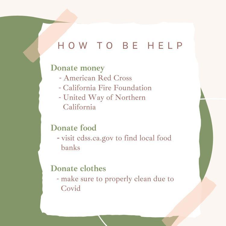 image of how to help wildfire victims