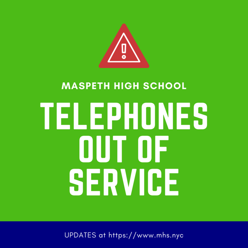 Telephones out of Service