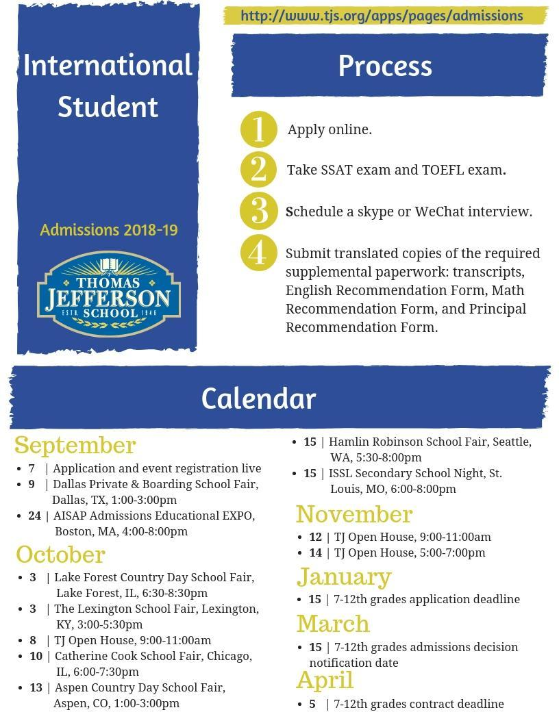 International Student Application Process - Thomas Jefferson School