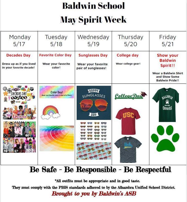 Spirit Week Flyer