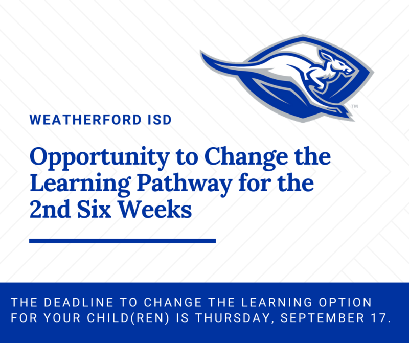 Opportunity to Change Learning Pathway for the 2nd Six Weeks Featured Photo