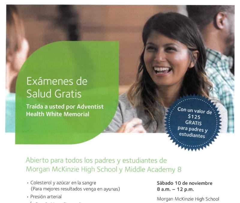 Free Community Health Screenings/Examenes de Salud Gratis Thumbnail Image