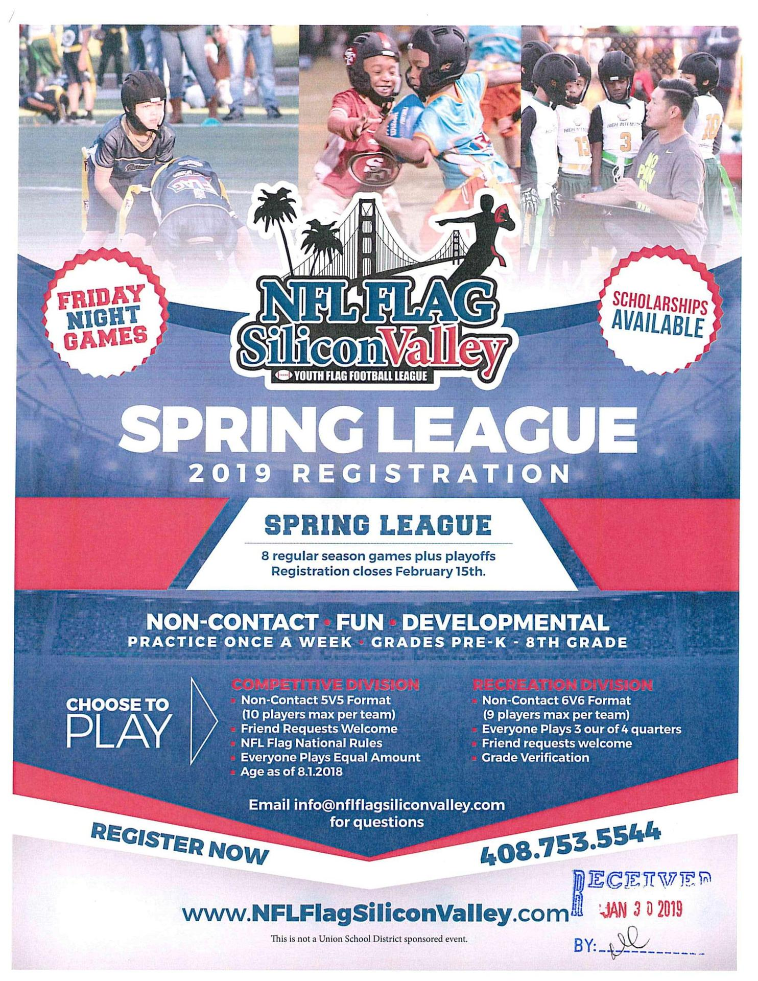 NFL Flag Silicon Valley Youth Flag Football League